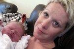 Британка провела онлайн-трансляцию своих родов